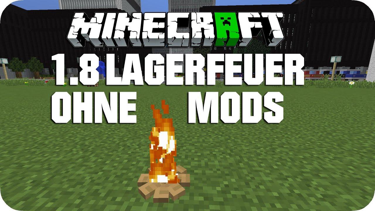 Realistisches Lagerfeuer Ohne Mods Minecraft Tutorial DE - Minecraft spielerkopfe 1 8