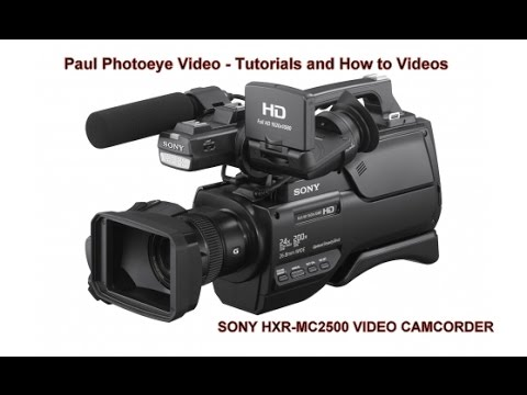 how to use a sony hxr mc2500 camera how to connect to a tv monitor rh youtube com HD-SDI Recorder HDR Recorder