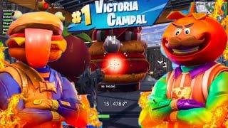 Tomates vs hamburguesas!! | modo de juego guerra de comida!! | Fortnite battle royale