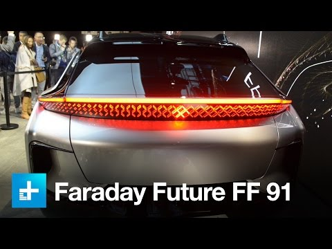 Thumbnail: Faraday Future's 1050hp FF 91 EV wows the crowd at CES 2017