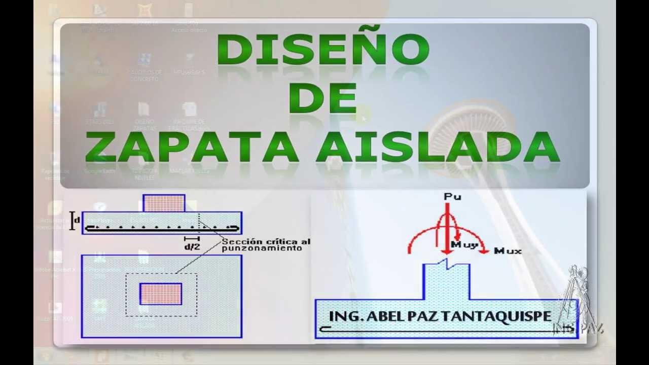 Anu00e1lisis y Diseu00f1o De Zapata Aislada (Parte 1) - YouTube