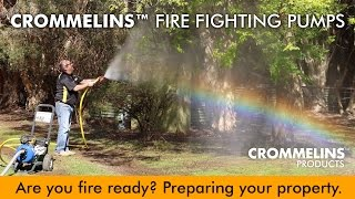 Are you fire ready? Crommelins Fire Fighting Pump in Action