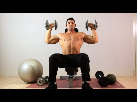 How to Do Seated Overhead Dumbbell Press | Arm Workout
