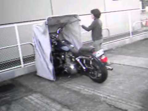 The bike shield for motorcycle shelter storage garage cover tent youtube - Motorcycle foldable garage tent cover ...