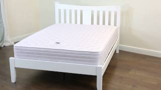Kingfisher Wooden Bed |  White -  3ft, 4ft, 4ft6, 5ft King Size