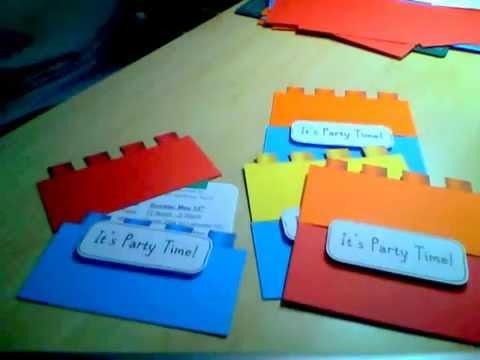 lego birthday invitation youtube
