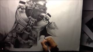 Halo 4 Speed Drawing