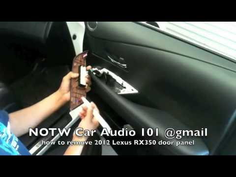 how to remove 2012 lexus rx350 door panel youtube. Black Bedroom Furniture Sets. Home Design Ideas