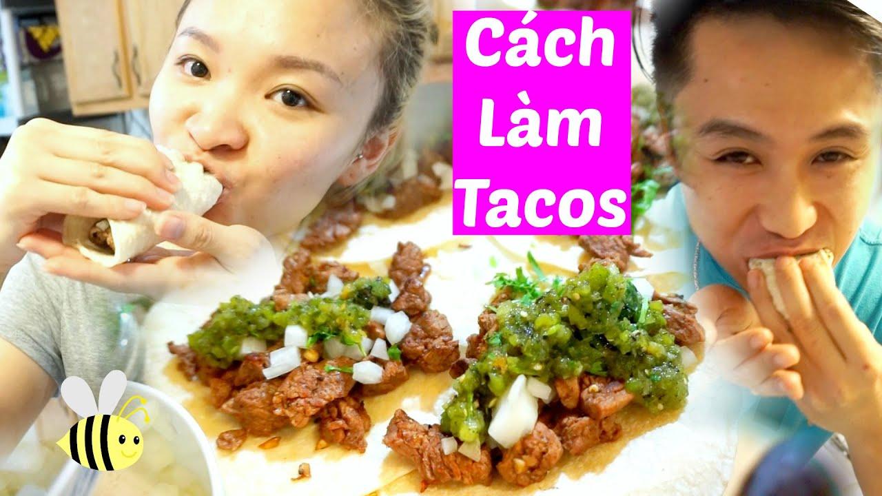 Try Mexican Street Tacos | Thử Ăn Tacos của Mexico | Cách Làm Tacos Recipe ♡ BeeSweetiee