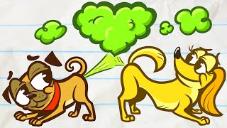 Cute Pencilmation PUPPIES!! | Animated Cartoons Characters | Animated Short Films | Pencilmation