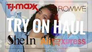 Try On Haul  Aliexpress, SheIn, Romwe & TjMaxx