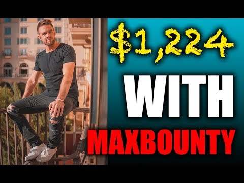 $1,224 With Maxbounty Affiliate Marketing Tutorial thumbnail