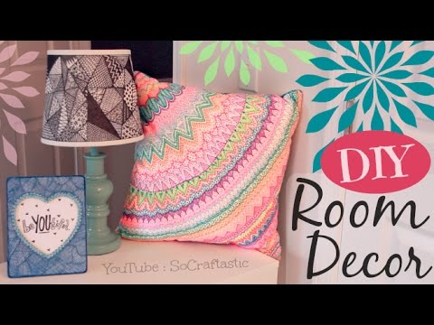 Diy Room Decor Doodle Lamp Shade Pillow Picture Frame