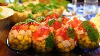 Заливные яйца.Видео-рецепт сайта tunya.ru
