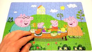 Свинка Пеппа и Джордж пазл игрушка собираем пазлы Puzzle Game Peppa Pig Toys 160