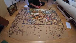 """2000 pcs puzzle timelapse - """"Fall of the Rebel Angels"""", Brueghel, D-Toys"""