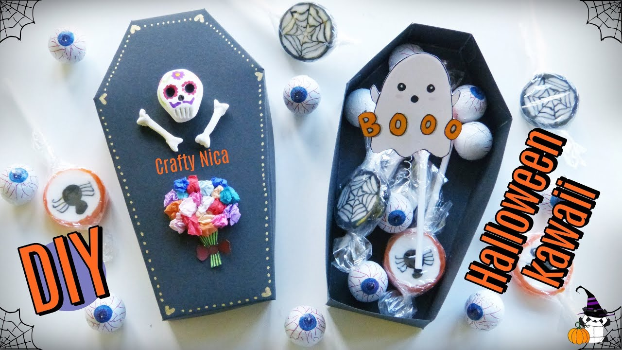 How To Make A Cute Surprise Box Halloween Crafts For Kids Diy