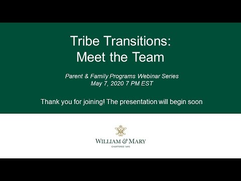 Tribe Transitions: Meet the Team