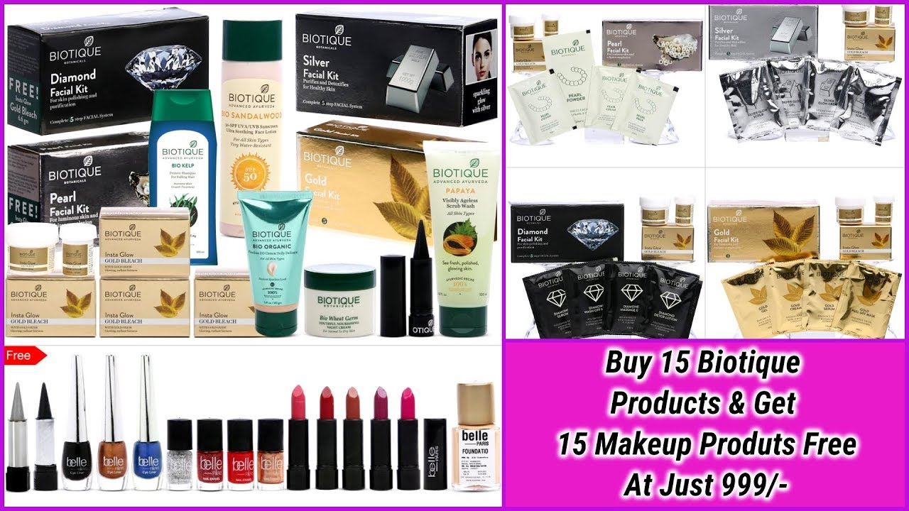 Buy 15 Pc Beauty Combo By Biotique & Get 15 Pc Makeup Kit FREE ( At Just 999 /-)