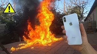 Кинул iPHONE X в ОГНЕННУЮ ЖИЖУ !