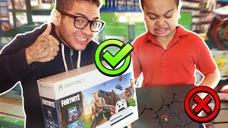 DESTROYING MY LITTLE BROTHERS PS4 AND SURPRISING HIM WITH AN XBOX! (HE RAGED)