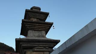 하동 조영남화개장터갤러리 카페에 있는 봉상사 삼층석탑