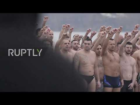Serbia: Teen cancer survivor catches Holy Cross in Belgrade's Epiphany river race
