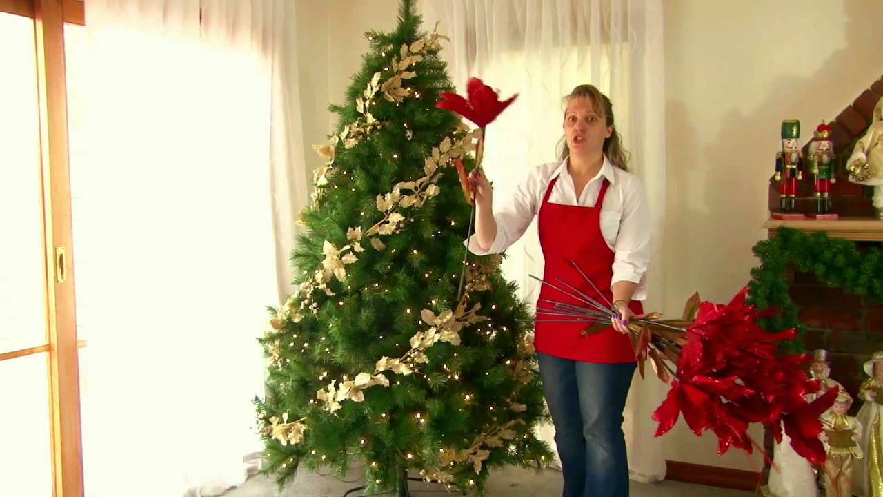 decorating a christmas tree professionally