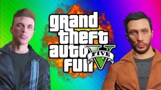 gta 5 online funny moments gameplay 4 news report planes car sticky bomb multiplayer