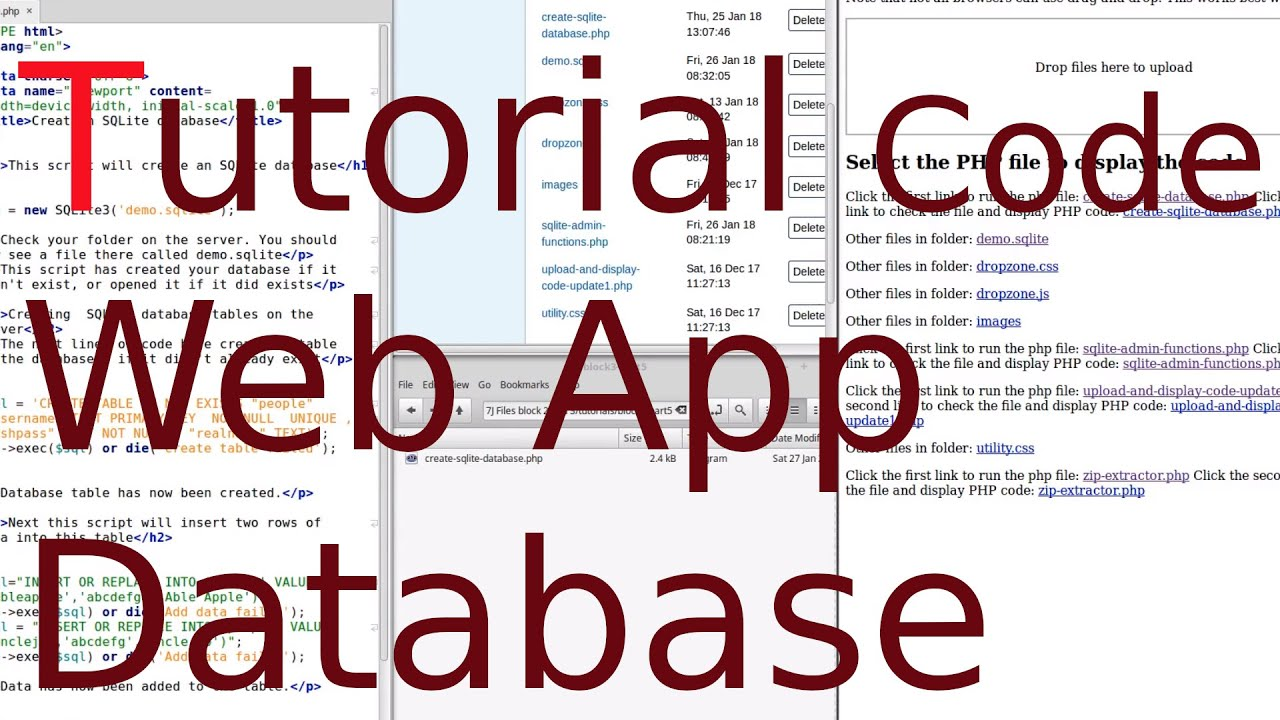 Tutorial: How to use SQLite as a database for a web app