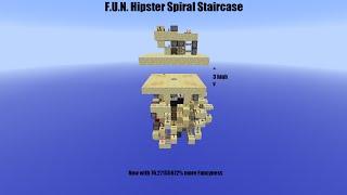 Minecraft - F.U.N. Hipster Spiral Staircase (14w21b)