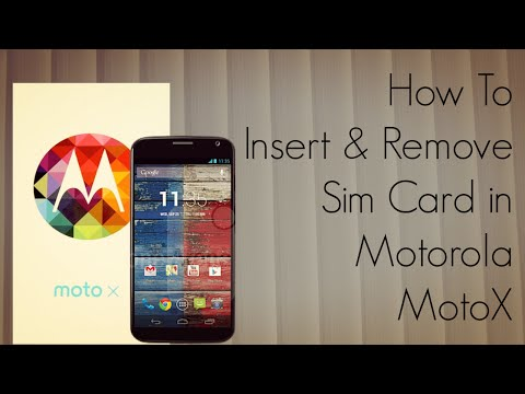 How to Insert and Remove Sim Card in Motorola MotoX Android Smartphone - PhoneRadar