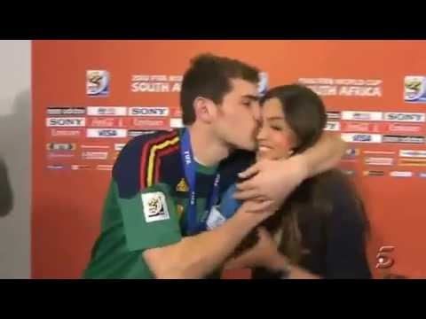 Iker Casillas with his wife Sara Carbonero At 2010 World Cup