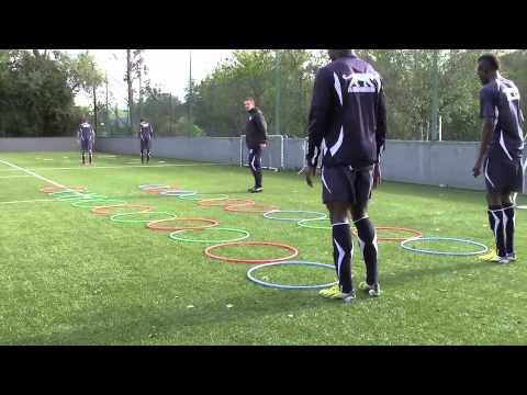 Séance entrainement football  A.J AUXERRE U17U19  Appuis et coordination