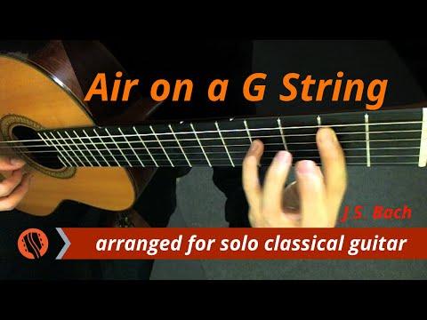 Air on a G String, BWV 1068 (classical guitar, original key) - J.S. Bach
