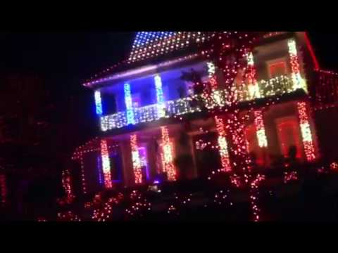 Patriotic Christmas Lights.Patriotic Southwood House Holiday Lights