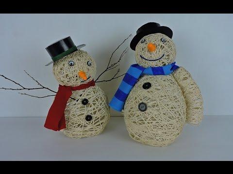 Como hacer un lindo mu eco de nieve para esta navidad - Como hacer cosas de navidad ...