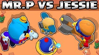 MR.P VS JESSIE | 15 tests | 1VS 1 |  NEW BRAWLER | BRAWL STARS