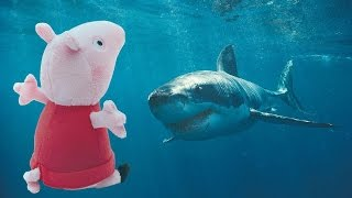 Свинка Пеппа ныряет. Подводное царство. Встреча с акулой. Дайвинг для Пеппы