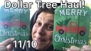 Dollar Tree Haul! 11/10