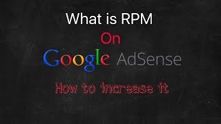 Hindi | What is Page RPM Google adsense and how to increase it