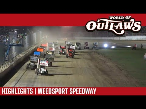 World of Outlaws Craftsman Sprint Cars Weedsport Speedway July 29, 2018 | HIGHLIGHTS