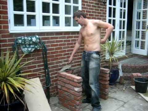 Brickin' - Laying a brick BBQ