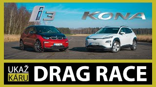 PORAZÍ HYUNDAI BMW??? | BMW i3 vs Hyundai Kona Electric | DRAG RACE #1