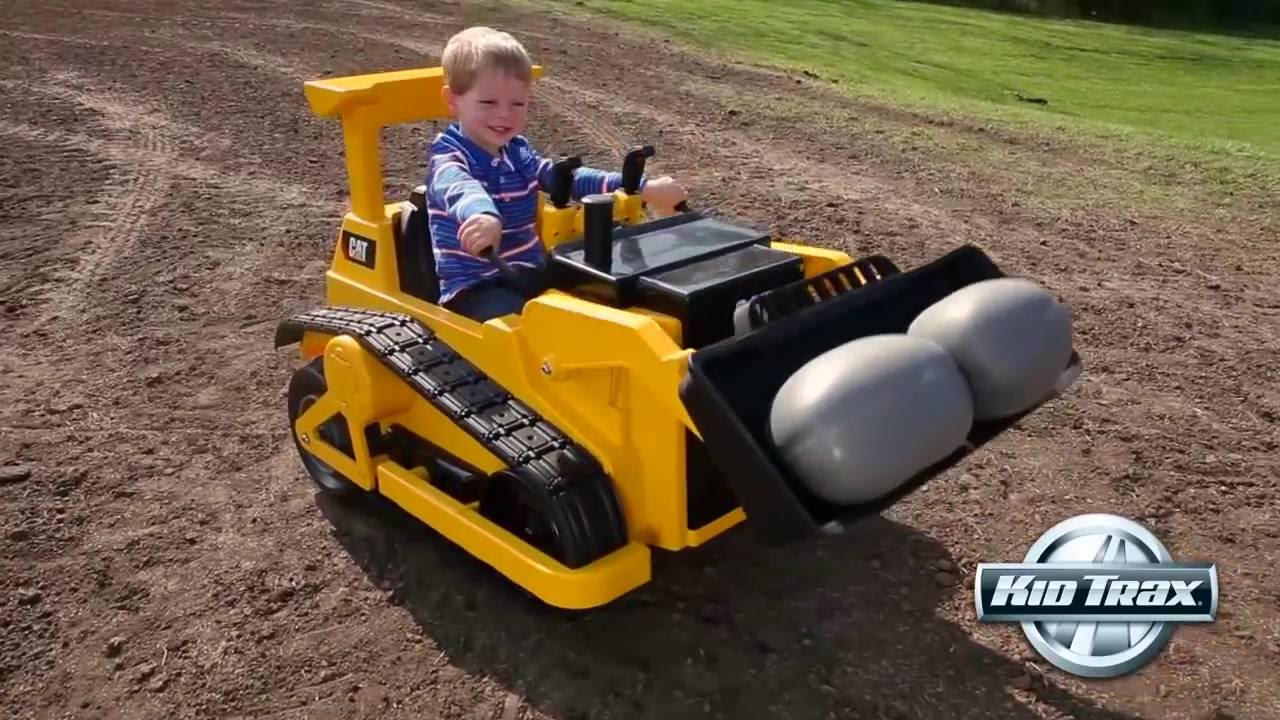 45acd55ee201 Kid Trax 12-Volt CAT Bulldozer Ride-on Toy Car - YouTube