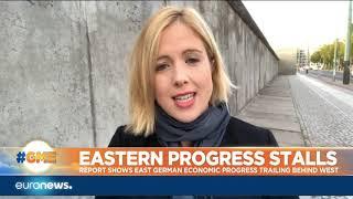 Report shows East German economic progress trailing behind West