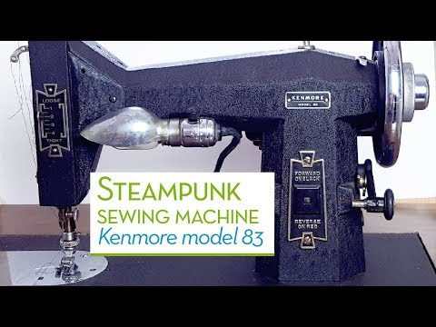 Kenmore Model 83 | Steampunk Sewing Machine | Threading | Pulley Drive