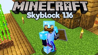 How To Get Diamond Gear in Skyblock! ▫ Minecraft 1.16 Skyblock (Tutorial Let's Play) [Part 10]