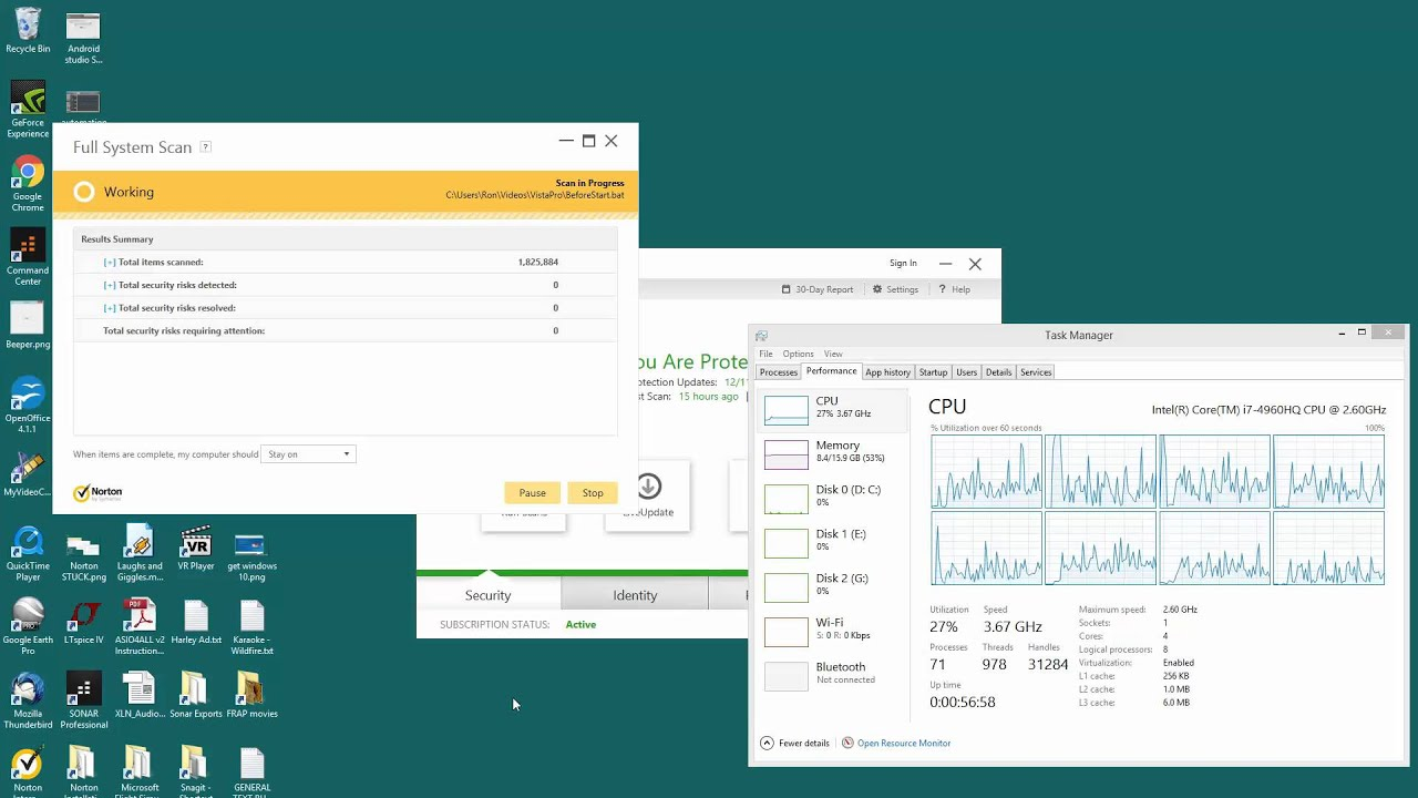 Norton Antivirus - Full Scan is stuck or frozen