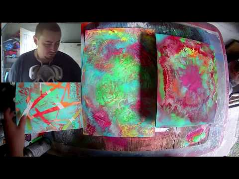 How To Make A Tie Dye Painting with Spray Paint